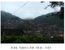 图 2-1 鸟瞰西江苗寨