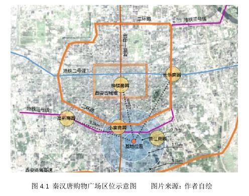 圖 4.1秦漢唐購物廣場區位示意圖