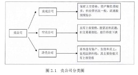 图 2.1 壳公司分类图