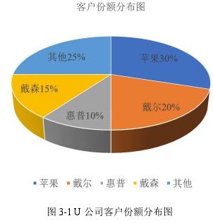 图 3-1 U 公司客户份额分布图