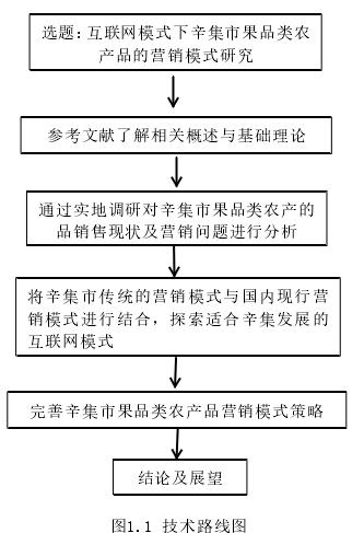 图1.1 技术路线图