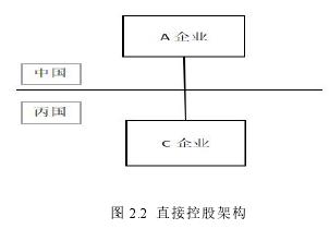 图 2.2 直接控股架构