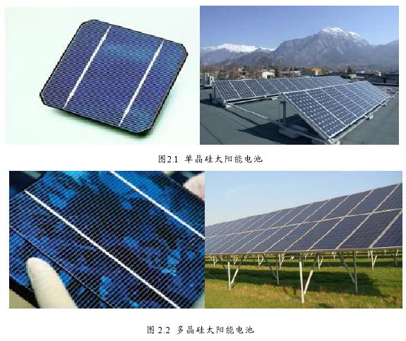图 2.2 多晶硅太阳能电池