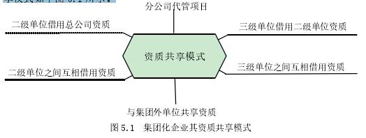 图 5.1 团体化企业其天资同享形式