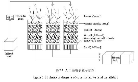图2.1 人工湿地装置示意图