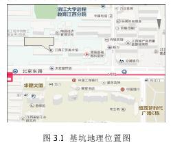 圖 3.1 基坑地理位置圖