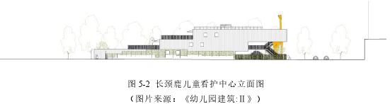 圖 5-2 長頸鹿兒童看護中心立面圖(圖片來源:《幼兒園建筑:Ⅱ》)