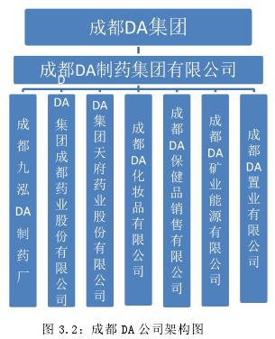 圖 3.2:成都 DA 公司架構圖