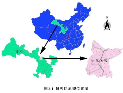 图2.1 研究区地理位置图