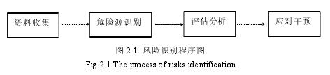 圖 2.1 風險識別程序圖