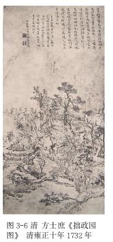 图 3-6 清 方士庶《拙政园图》 清雍正十年 1732 年