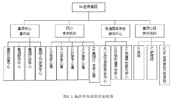 图3.1 RA医养集团组织架构图