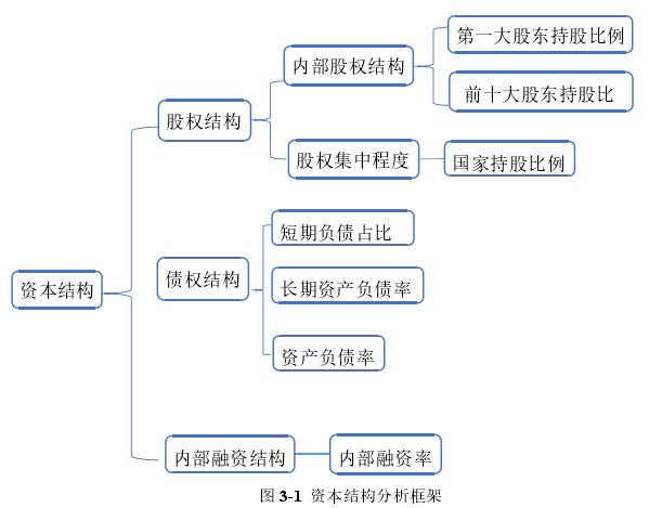 图 3-1 资本结构分析框架