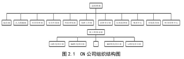 图 2.1CN 公司组织结构图